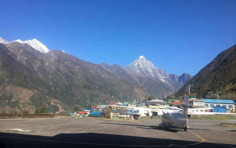 Mt Khumbila from Lukla airport